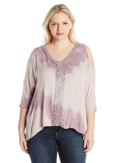 Democracy Women's Plus Size Elbow SLV Square Top