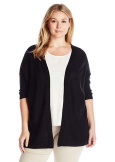 Democracy Women's Plus Size Lace up Back 2 Pocket Sweater