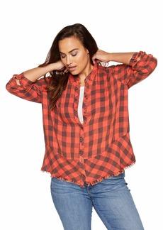 Democracy Women's Plus Size Long Sleeve Plaid Button Up Shirt