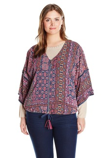Democracy Women's Plus Size Printed Kibomb Jacket