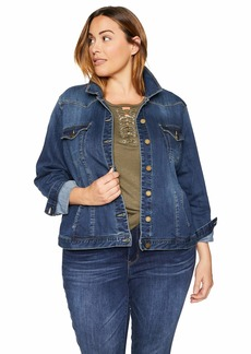 Democracy Women's Plus Size Western Denim Jacket  1X