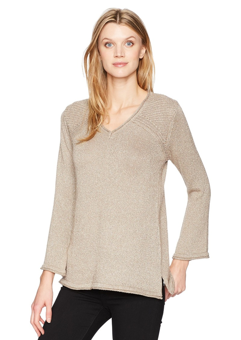 Democracy Women's Ribbed Lurex Sweater  L