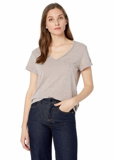 Democracy Women's Short Sleeve Tee with Metal Chain Detail  L