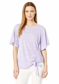 Democracy Women's Short Sleeve TEE with Side CASING  L