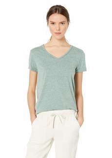 Democracy Women's Short Sleeve V Neck Tee with Chain Detail  M
