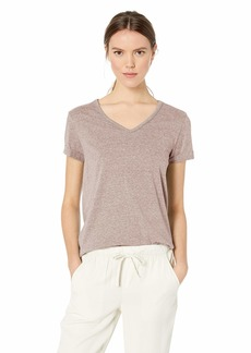 Democracy Women's Short Sleeve V Neck Tee with Chain Detail  S