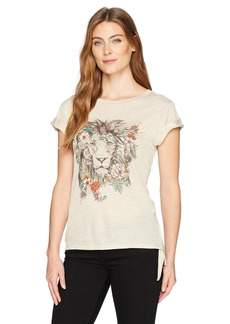 Democracy Women's S/s Side Knot Top with FRNT Screen  M