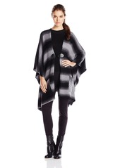 Democracy Women's Striped Blanket Sweater Poncho  Small/Medium