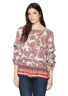 Democracy Women's Triple Tuck SLV Top  S