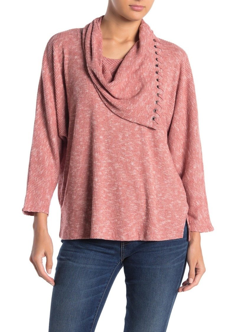 Democracy Dolman Sleeve Cowl Neck Sweater