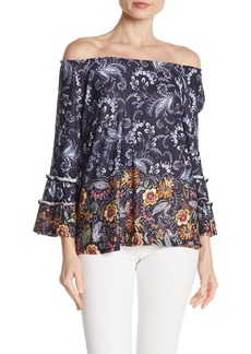 Democracy Floral Paisley Off-the-Shoulder Blouse