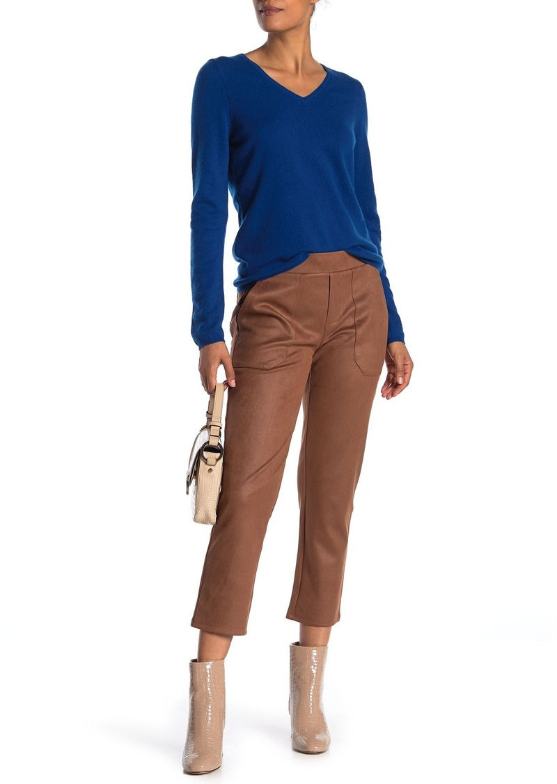 Democracy High Waisted Faux Suede Ankle Pants