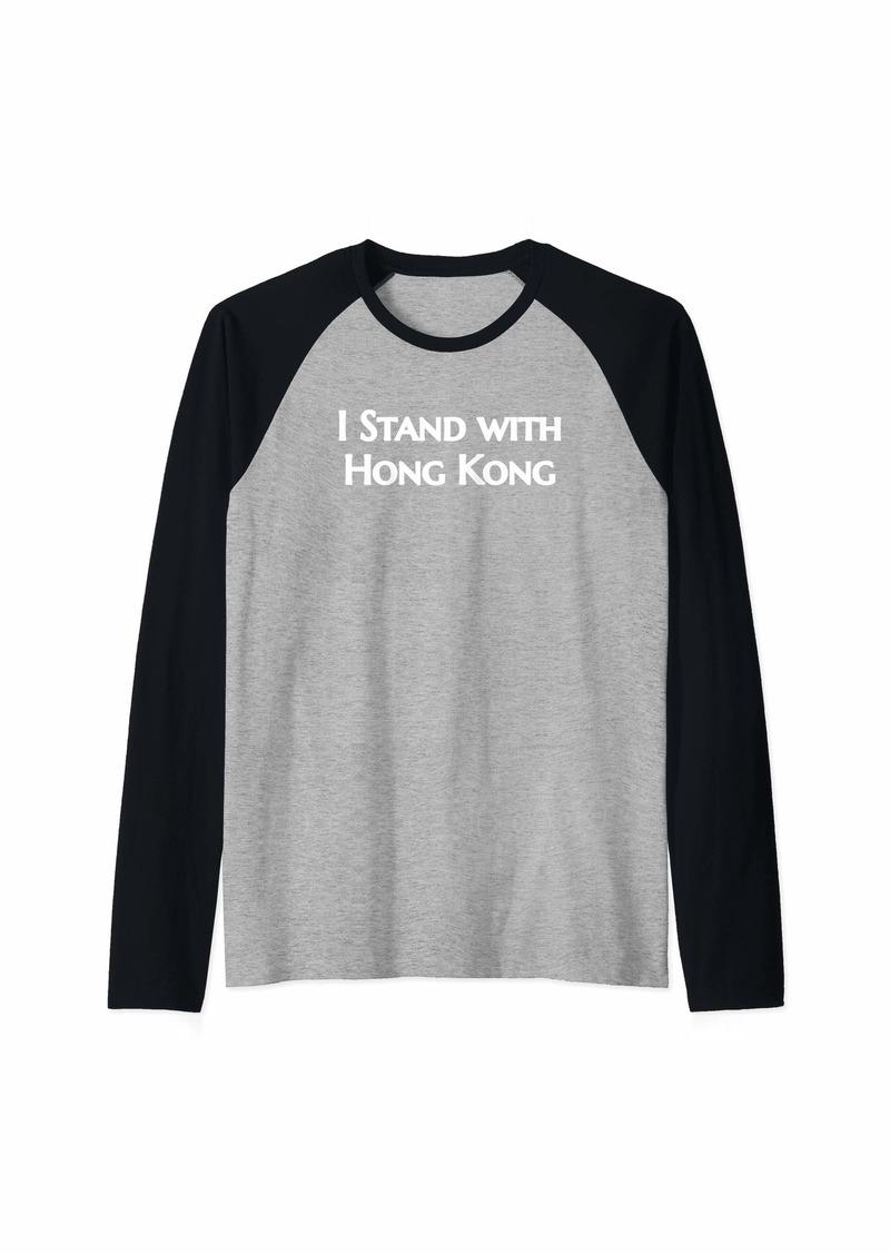 Democracy I Stand With Hong Kong Raglan Baseball Tee