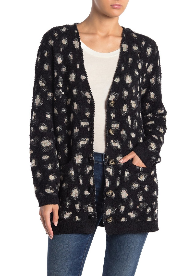 Democracy Leopard Printed Knit Cardigan