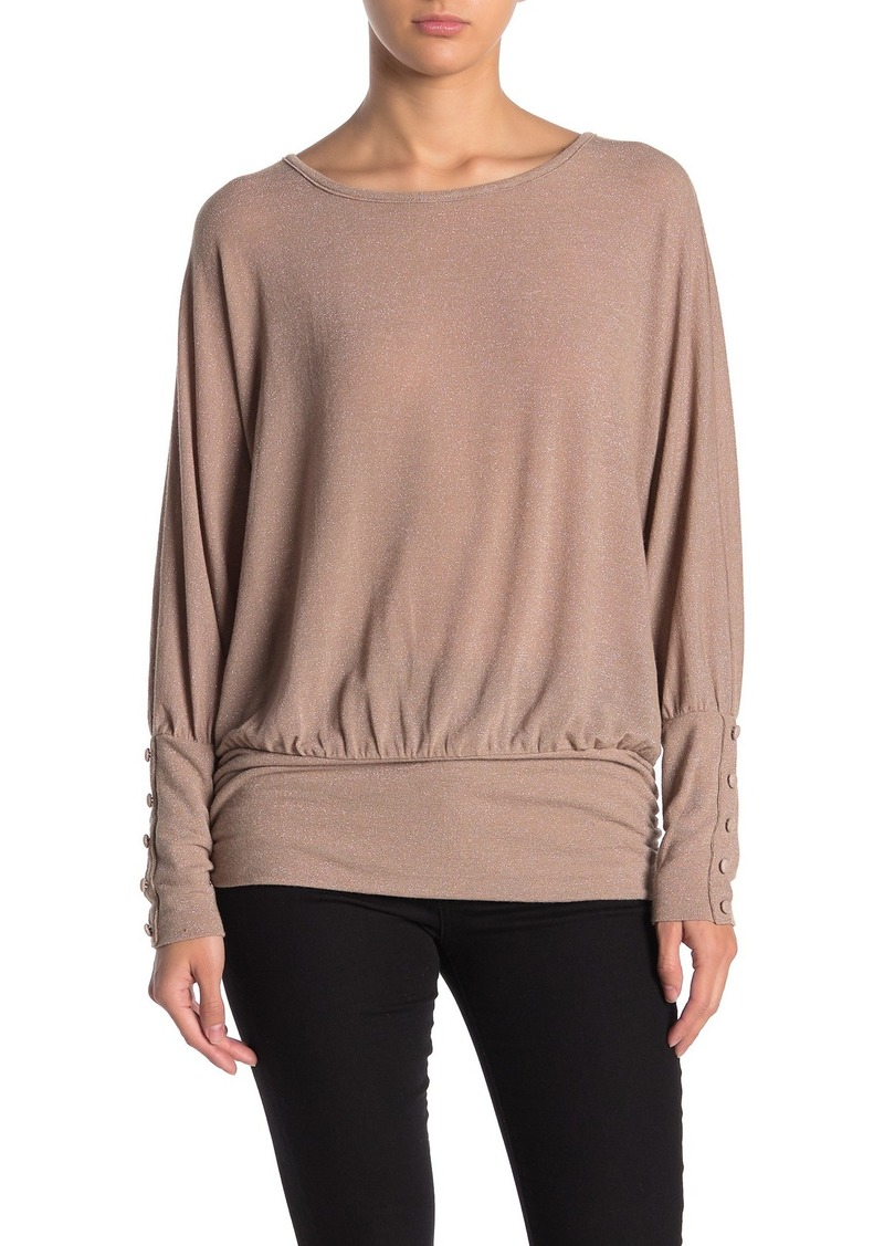 Democracy Long Dolman Sleeve Blouson Sweater