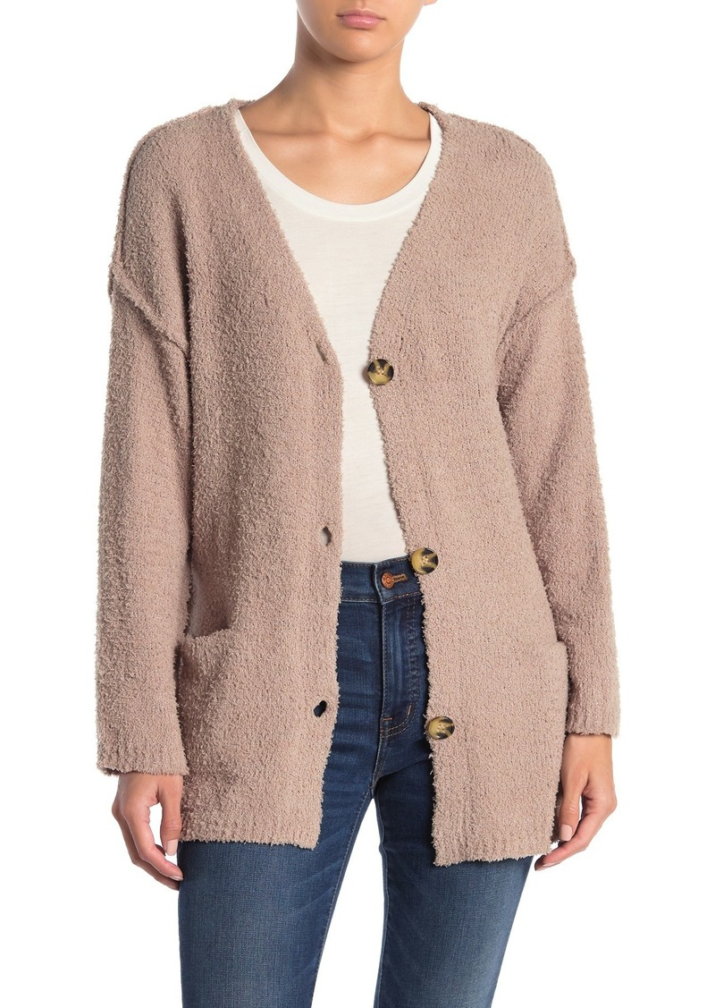 Democracy Long Sleeve Chenille Knit Cardigan