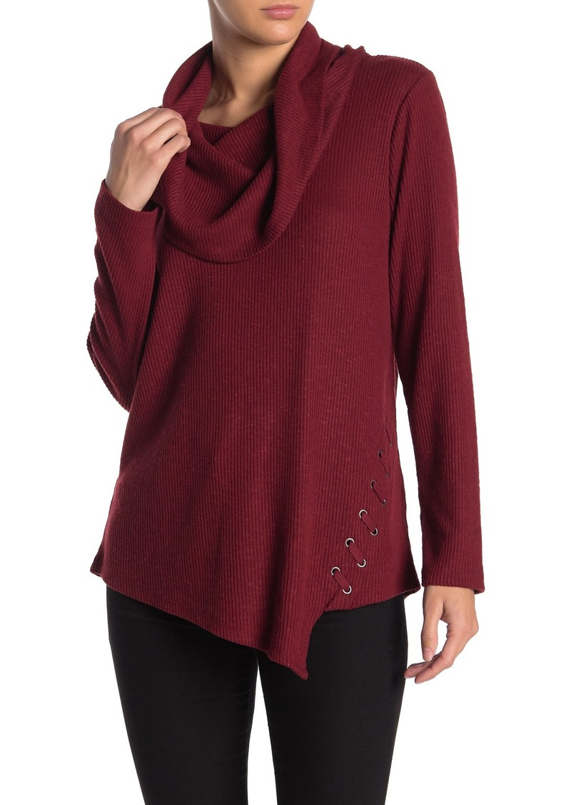 Democracy Long Sleeve Cowl Neck Sweater