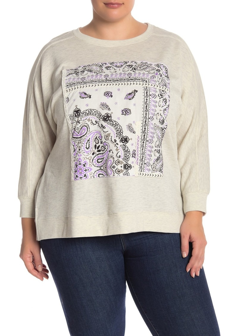 Democracy Patch Crew Neck Sweatshirt (Plus Size)
