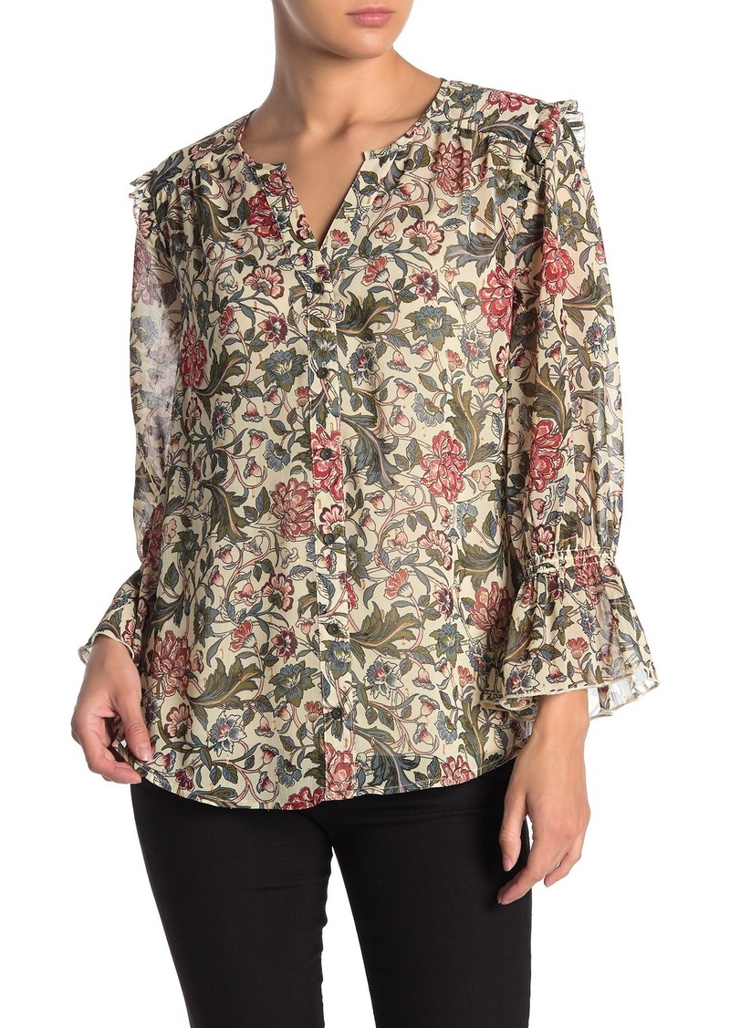 Democracy Ruffle Sleeve Floral Top