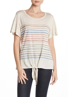 Democracy Striped Tie Front T-Shirt