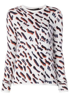 Derek Lam Abstract Animal Jacquard Fitted Sweater