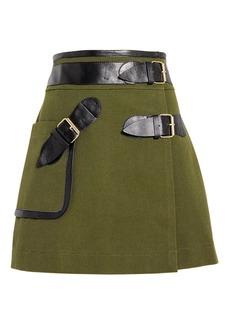 Derek Lam Army Wrap Mini Skirt