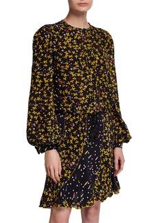 Derek Lam Aster Cropped Floral-Print Blouse