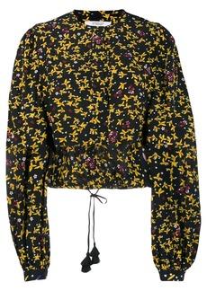 Derek Lam Aster Cropped Jasmine Floral Blouse