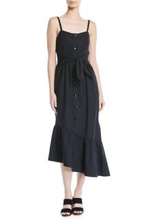 Derek Lam Asymmetric Button-Front Cami Dress