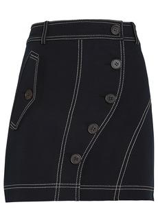 Derek Lam Asymmetric Button Placket Mini Skirt