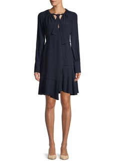 Derek Lam Asymmetric Silk-Blend Dress