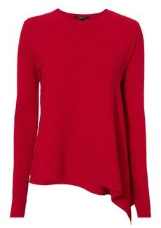 Derek Lam Asymmetrical Ribbed Red Sweater