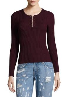 Derek Lam Barbell Rib-Knit Wool Pullover