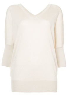 Derek Lam Batwing Sweater with Printed Back