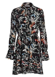Derek Lam Bell-Sleeve Floral Dress