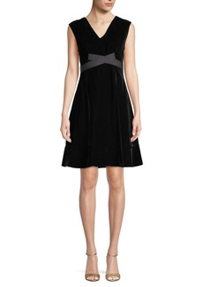 Derek Lam Belted A-Line Dress