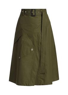 Derek Lam Belted A-Line Wrap Skirt
