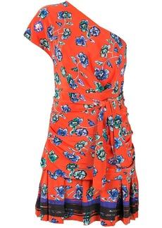 Derek Lam belted one-shoulder dress