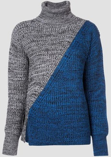 Derek Lam Bi-Color Turtleneck Sweater