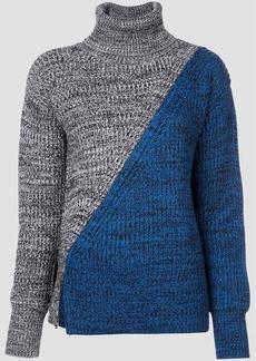 Derek Lam Bi-Color Turtleneck Sweater