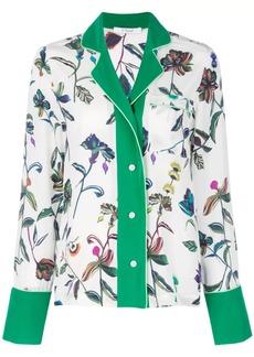Derek Lam Botanical Print Pajama Shirt