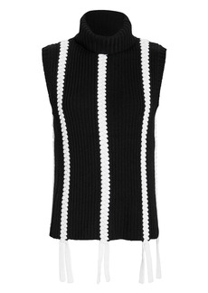Derek Lam Braid Detail Sleeveless Turtleneck