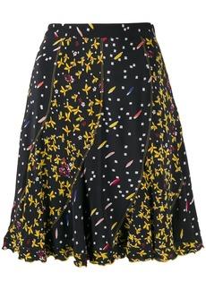 Derek Lam Bronte Mixed Jasmine Floral Print Flare skirt