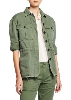 Derek Lam Button-Front Cotton Utility Jacket