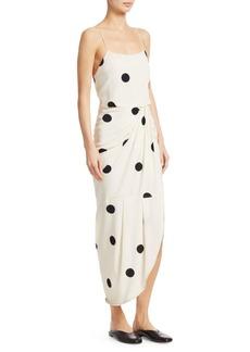 Derek Lam Cami Polka-Dot Silk-Blend Maxi Dress