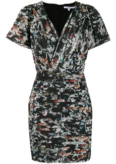 Derek Lam Cap Sleeve Wallpaper Floral Fitted Dress