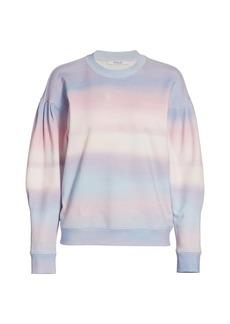 Derek Lam Casey Watercolor Drop-Shoulder Sweatshirt