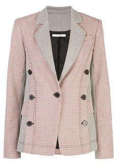 Derek Lam checked button-embellished blazer
