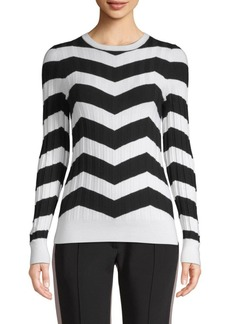 Derek Lam Chevron Wide-Rib Sweater