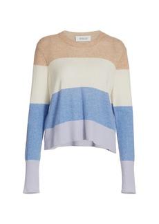 Derek Lam Clea Crewneck Cashmere Striped Sweater